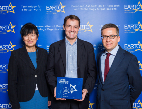The CEA receives the 2015 EARTO Prize for industrialized Ultra rapid batteries by NAWATechnologies